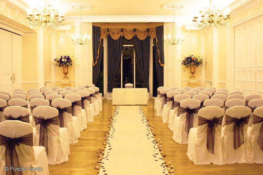 Elegant Purple Wedding At Black Swan Lake: Aisle Runner Hire