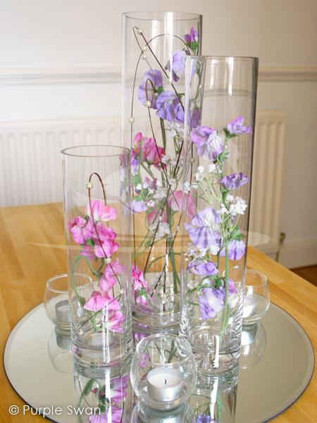 Lily Vase Hire Hurricane Vase Hire Wedding Table Centrepiece Design Cumbria Lake District