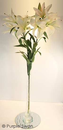 Lily Vase Wedding Flowers : Lily vase hire hurricane wedding table
