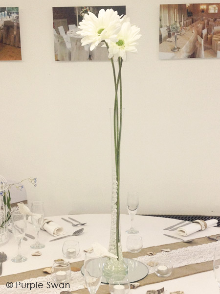Lily Vase Hire Hurricane Vase Hire Wedding Table Centrepiece