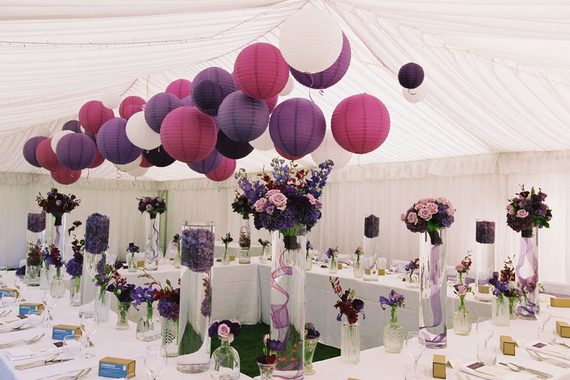 Paper Lanterns Wedding Pom Poms Cumbria Lake District Lancashire