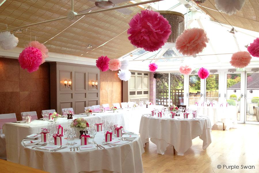 paper lanterns wedding pom poms cumbria lake district lancashire. Black Bedroom Furniture Sets. Home Design Ideas