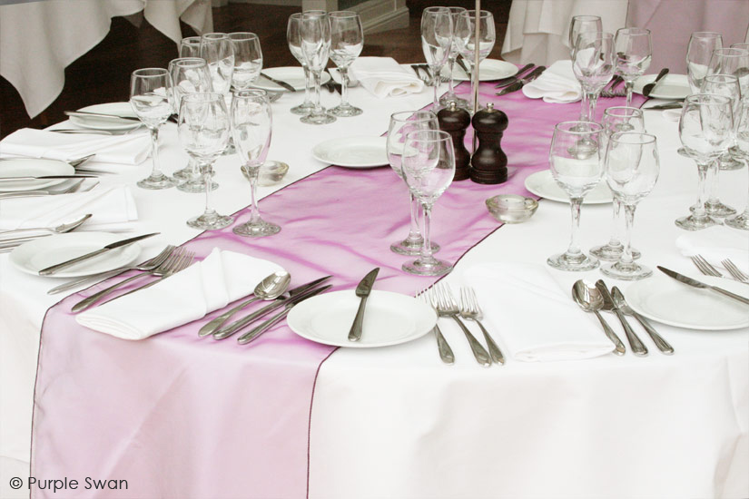 Rooftop garden wedding reception table with sequin tablecloth, pink ...
