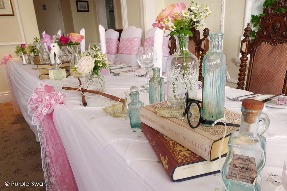 Elegant Purple Wedding At Black Swan Lake: Wedding Decorator & Design