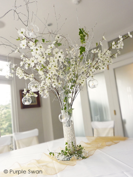 Wedding Crystal Tree Hire Blossom Branch Centrepiece Cumbria Lake District Lancashire