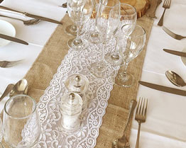 Table Runner Hire Cumbria Wedding Swagging Lake District