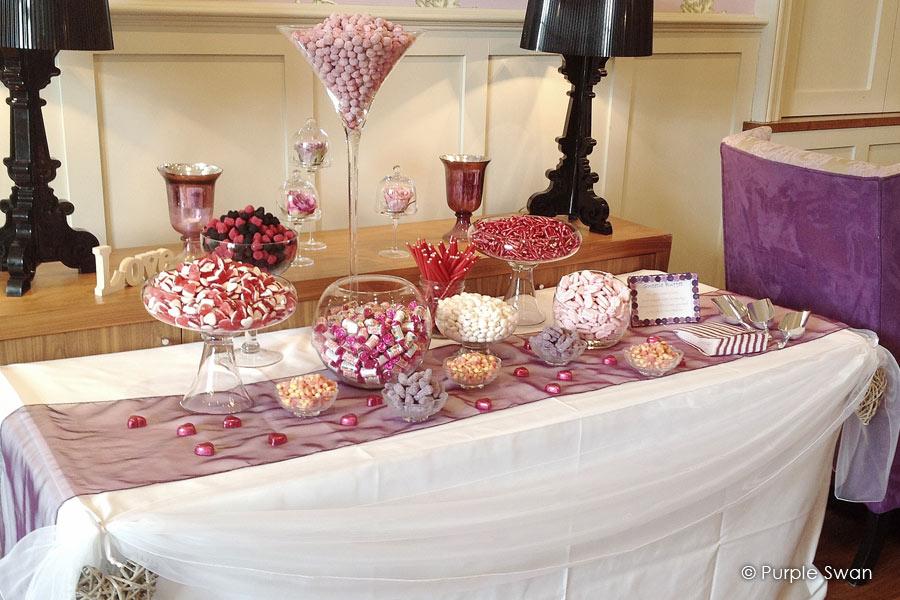 Elegant Purple Wedding At Black Swan Lake: Wedding Venue Decoration Gallery