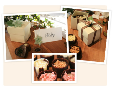Handmade wedding favours with chocolates from Annettes Lakeland Kitchen