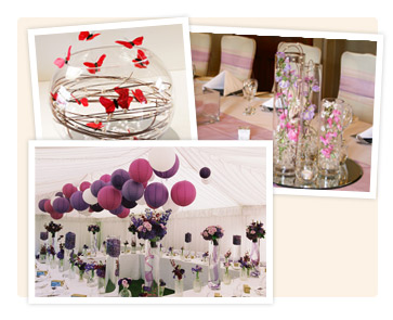 A range of centrepieces for your tables